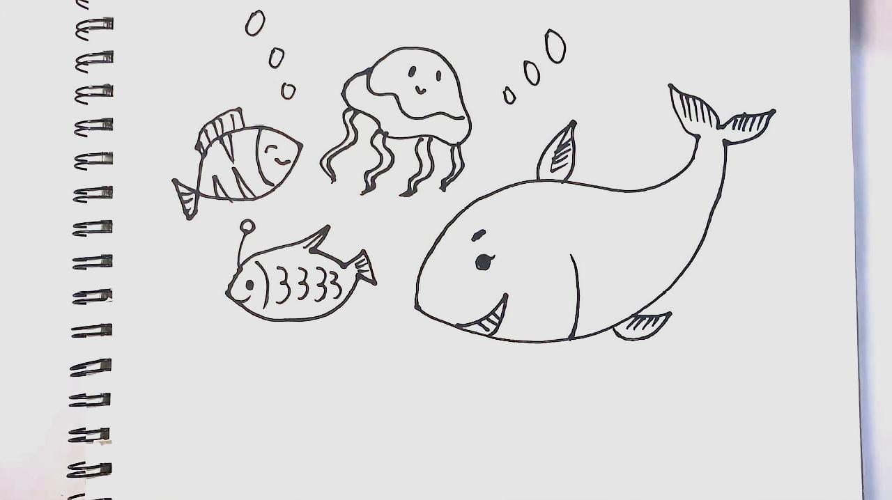 3清新版海底世界的画法  01:34  来源:好看视频-简笔画海底世界怎么画