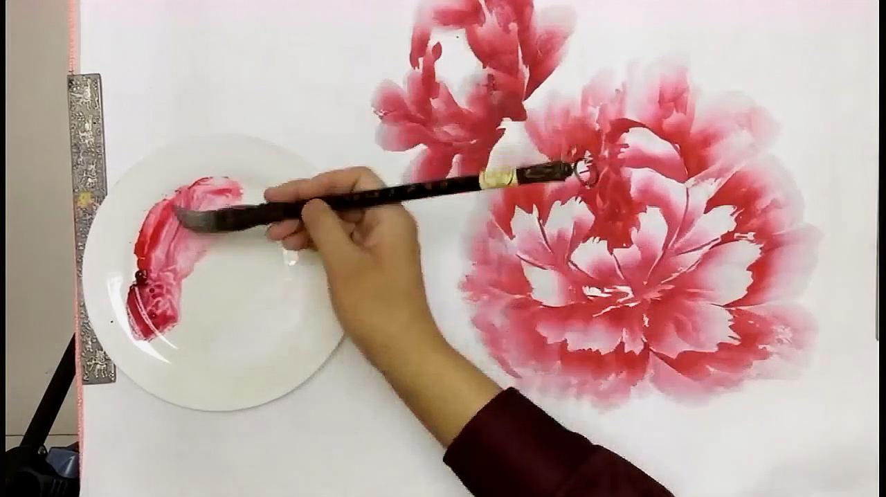 国画教学:快速画出的洛阳牡丹,短时间学会牡丹画法,需掌握关键