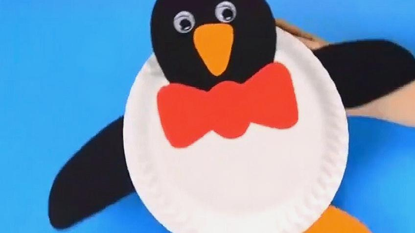 手工折纸教程 服务升级打开原网页 2纸盘企鹅的做法.