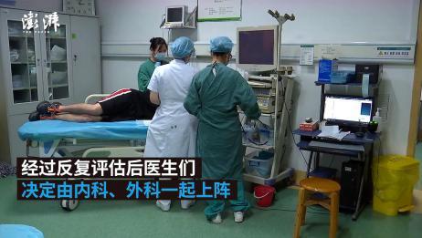 湖北宜昌一市民吃鸭骨卡进食道,医生:主动脉险被划破