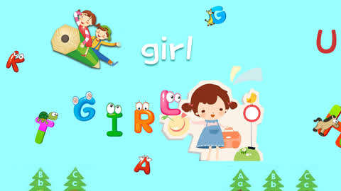 滚滚故事字母律动操 第25集: 儿童英语字母律动舞蹈girl图片