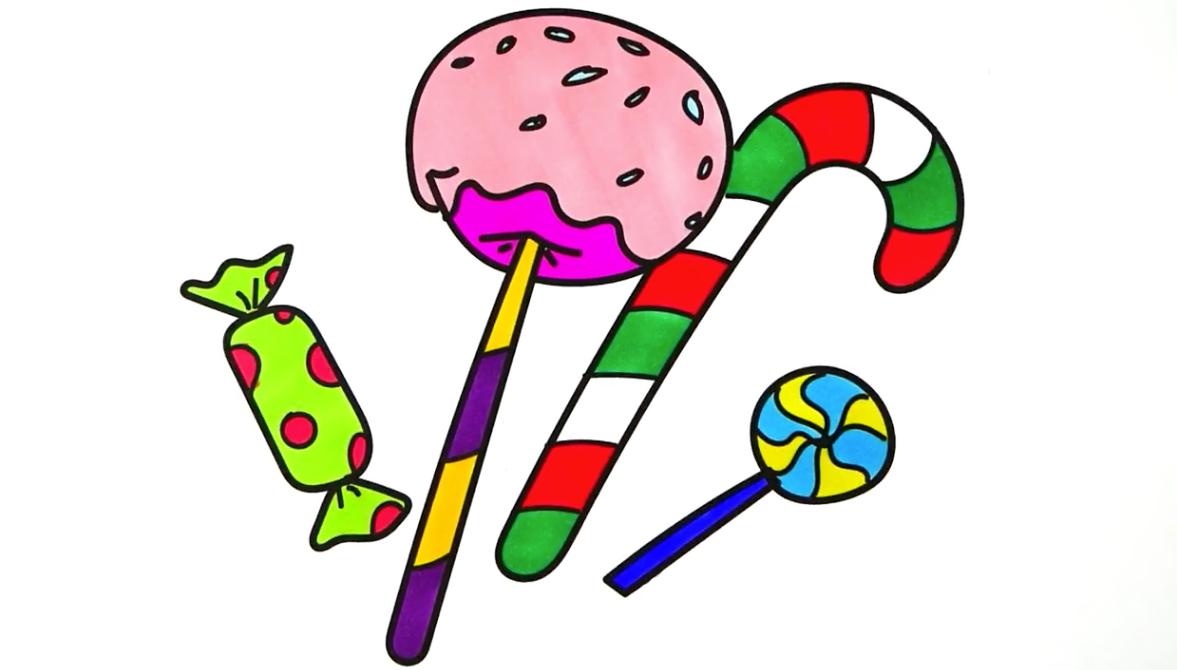 親子簡筆畫:超大功夫棒棒糖