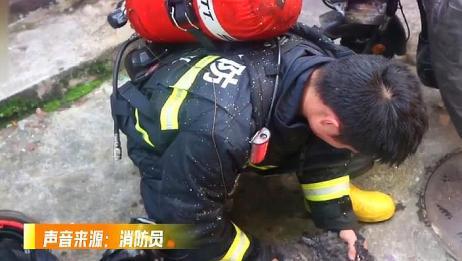 家中着火,主人哭喊让先救小狗,还是一定要注意自身生命安全