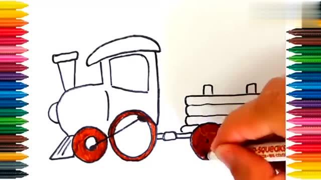 宝宝简笔画涂色本 服务升级打开原网页 7快来画飞奔的和谐号吧!图片
