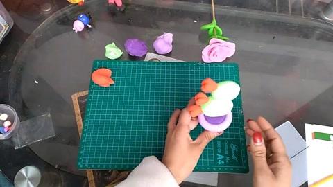 黏土手工制作;用橡皮泥制作仙人掌