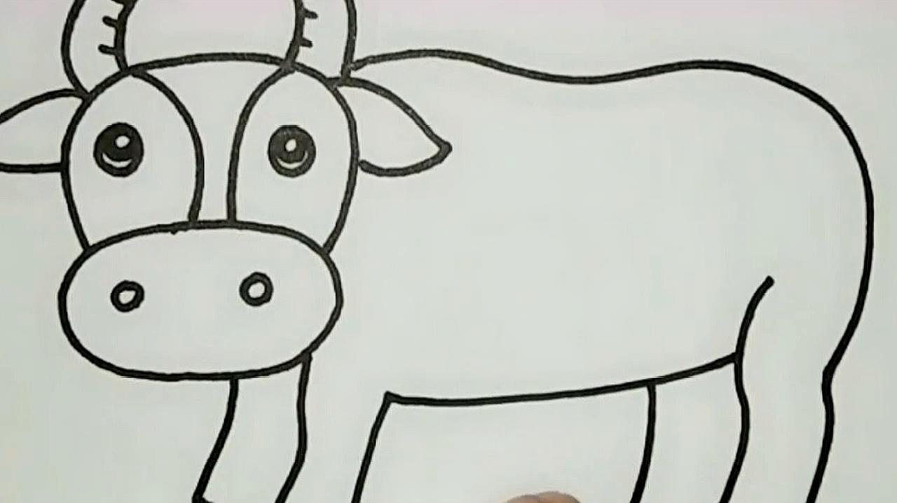 十二生肖简笔画《一》图片