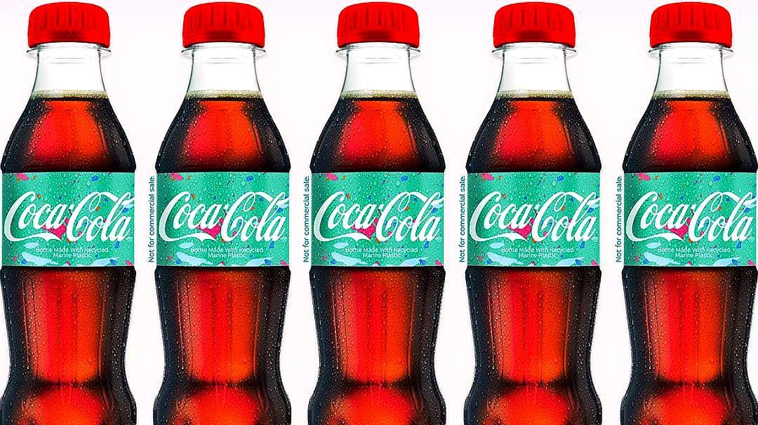 可口可乐推出全球首款海洋废塑料再生瓶,2020年开始推广!