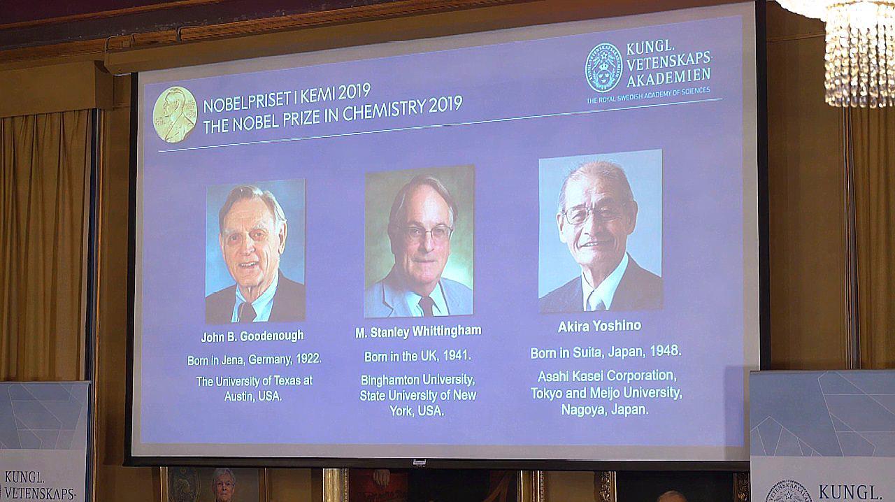 2019年诺贝尔化学奖揭晓!三名科学家分享荣耀 年龄均已70岁以上