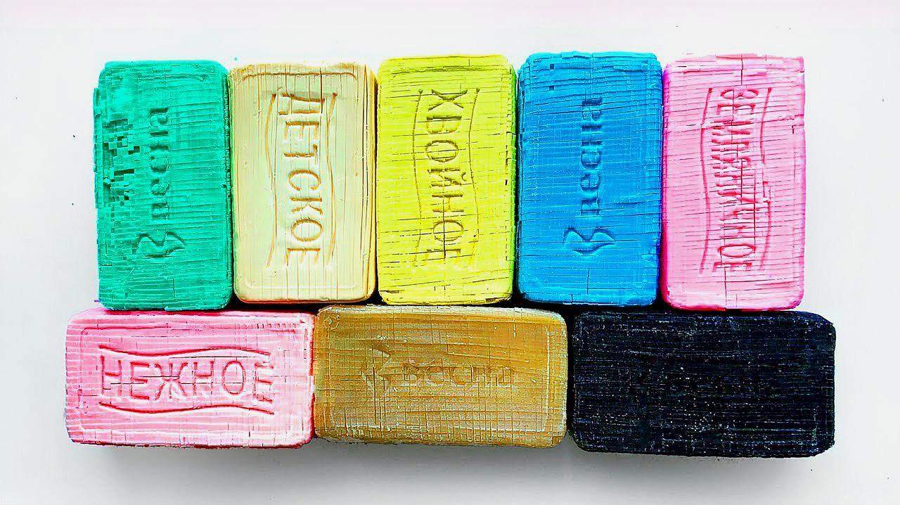 刮几块五颜六色的马赛克香皂,看起来太酸爽了