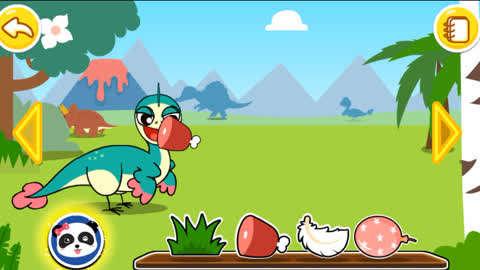 儿童益智小游戏,恐龙乐园 :偷蛋龙的尾巴能保持身体平衡,跑起来很快图片
