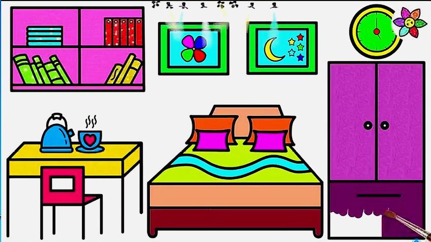 漂亮的卧室怎么画?图片