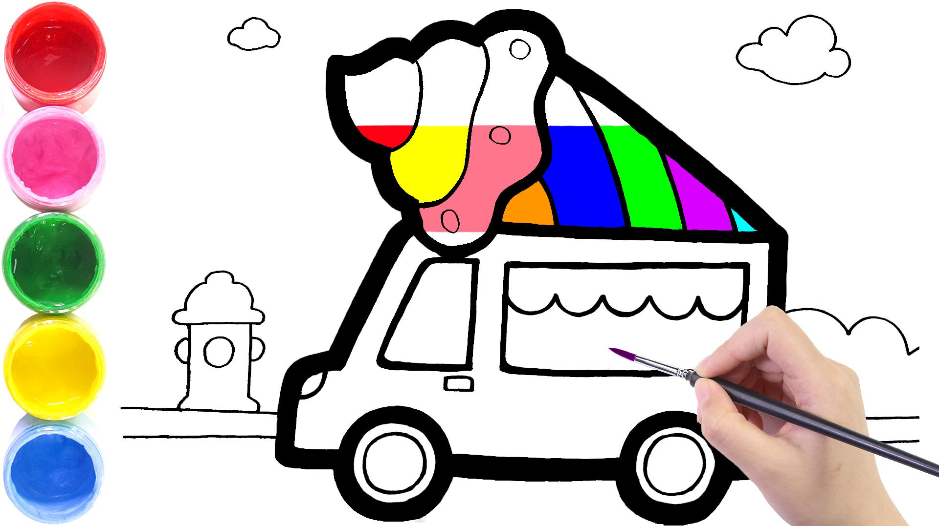 可爱的汽车绘画图片 可爱的汽车简笔画图片大全