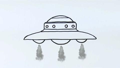 怎么画宇宙飞船简笔画?