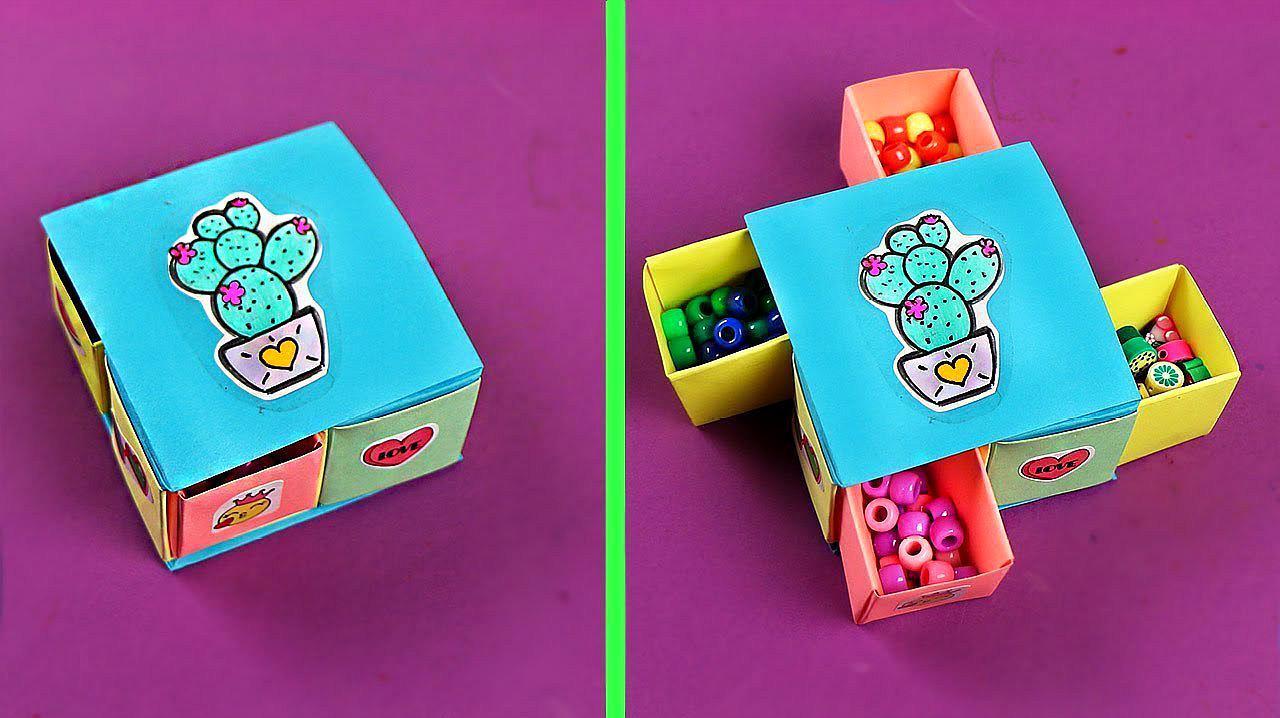 教你折纸漂亮的桌面收纳盒,简单几步就做好,手工折纸教程