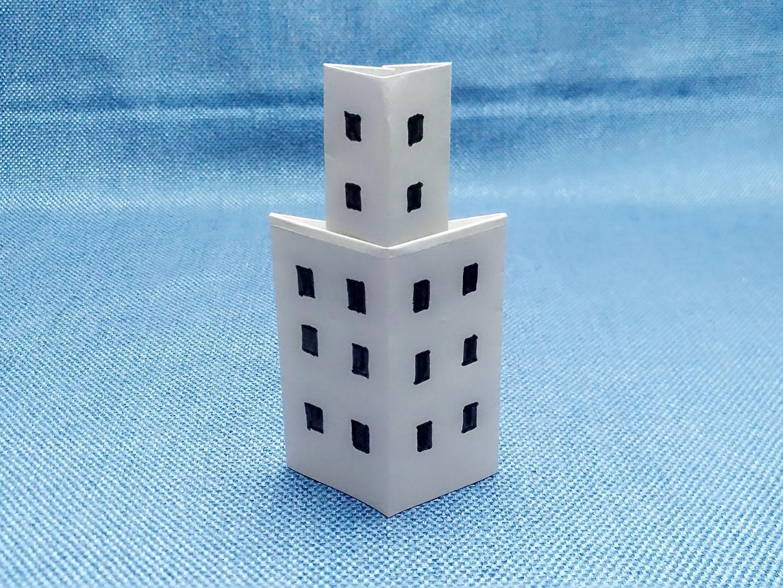 手工制作楼房折纸