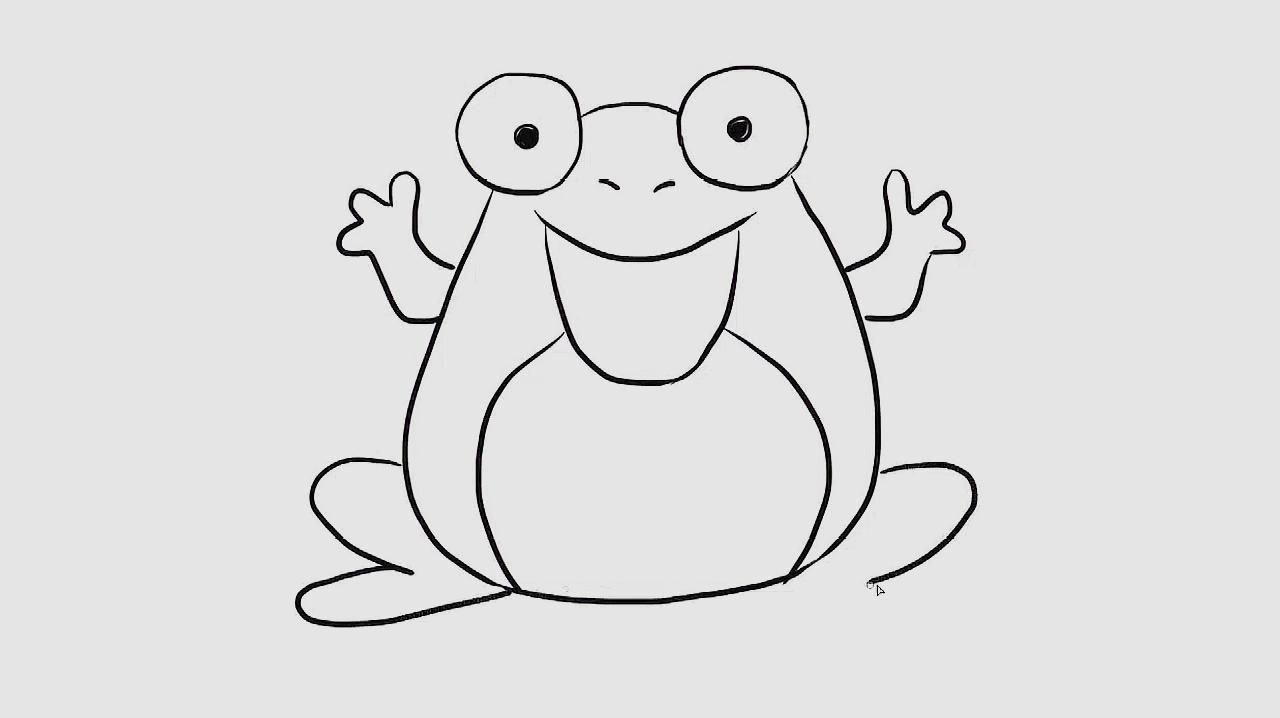 简笔画:今天教小朋友们可爱的青蛙怎么画,快画起来吧