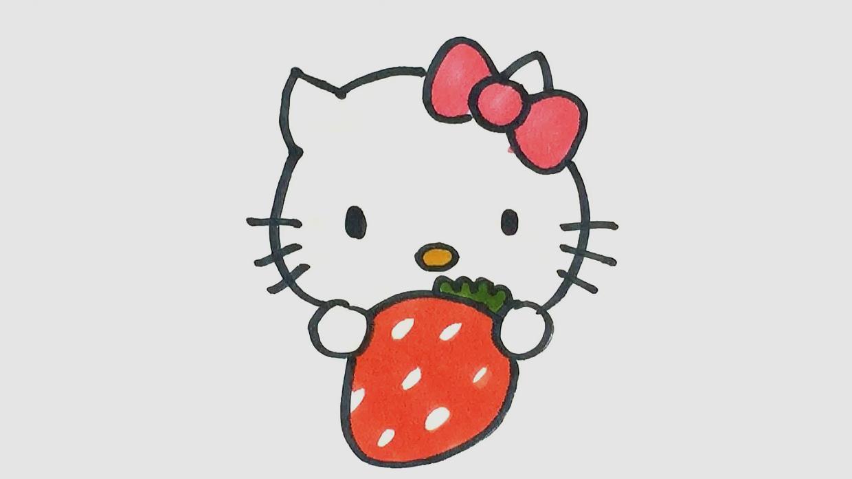 凯蒂猫简笔画怎么画