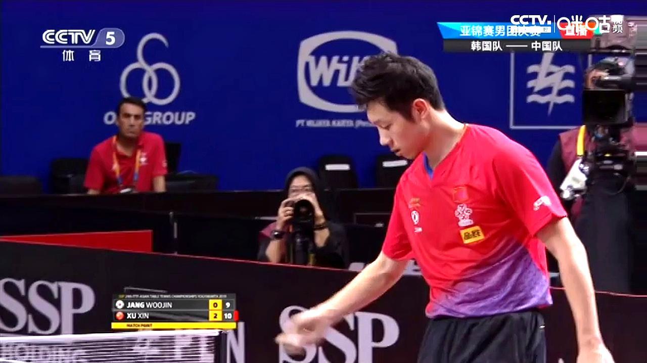 男团决赛第一盘中,许昕3-0战胜张禹珍,为中国男队拿下开门红!