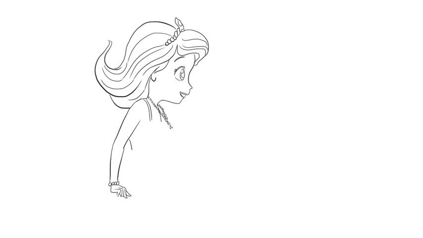 软萌又可爱的小公主简笔画