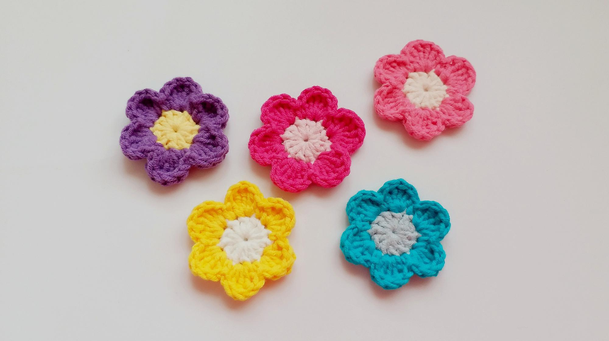 教你用钩针编织精致花朵