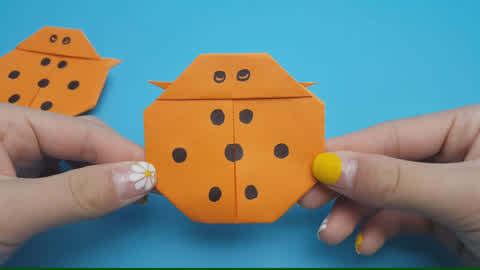 巧手姐姐折纸大全 动物昆虫简单折纸 七星瓢虫