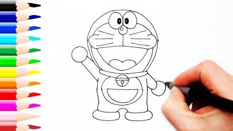 儿童娃娃趣味益智画画:一起来画出可爱的叮当猫吧!