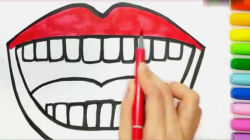 嘴巴的简笔画怎么画?
