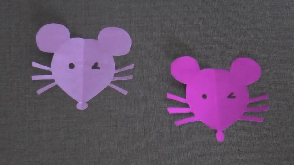 幼儿园小老鼠手工制作:做一个剪纸小老鼠