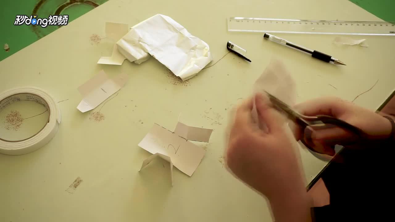 如何用纸烟盒来手工制作飞机