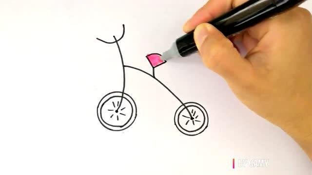 出行好帮手,画自行车简笔画