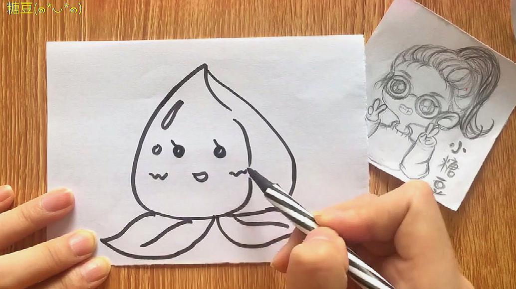 宝宝学画画基础教学视频,儿童简笔画大全,一分钟学会画小桃子