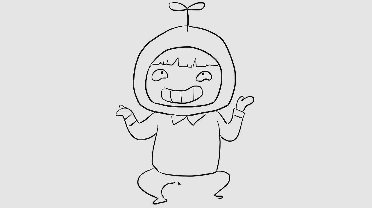 儿童亲子简笔画:男孩子怎么画