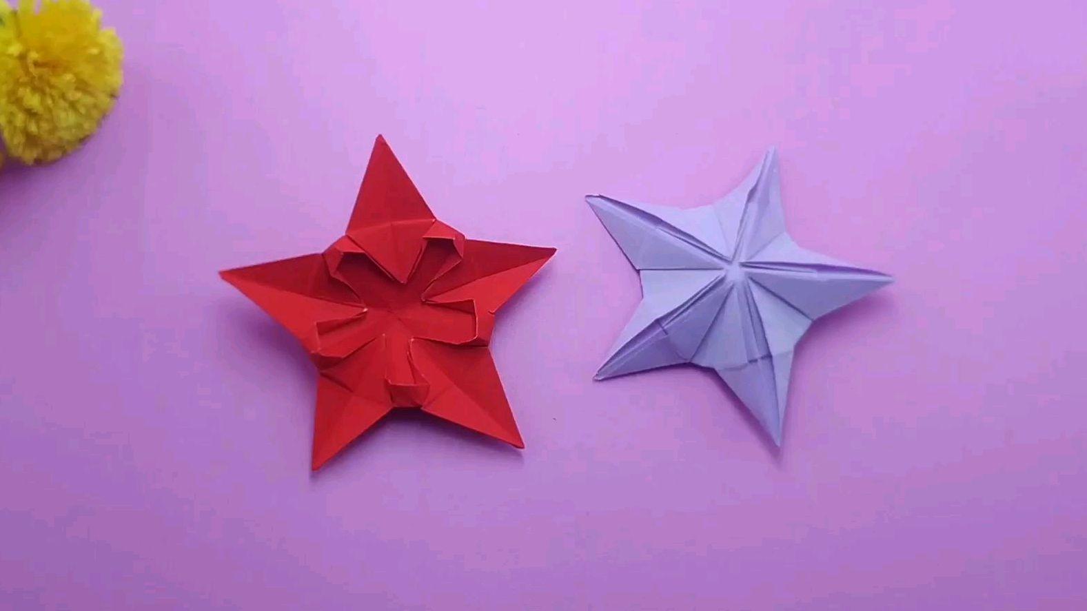 来源:好看视频-彩色立体五角星的折纸教程,手工折纸大全视频,太有创意