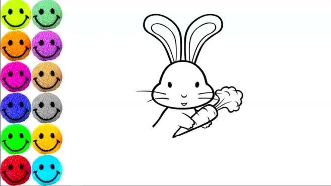 小兔子簡筆畫怎么畫?