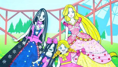 纸娃娃创意手工:萨拉离家后想念妈妈,给她和妈妈制作亲子装