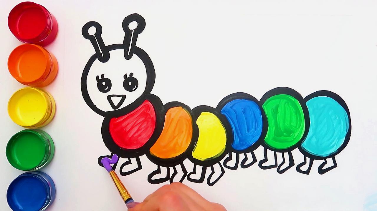 毛毛虫简笔画怎么画?图片