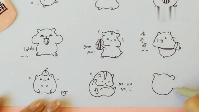 教你画可爱的小仓鼠简笔画,学会去教小朋友