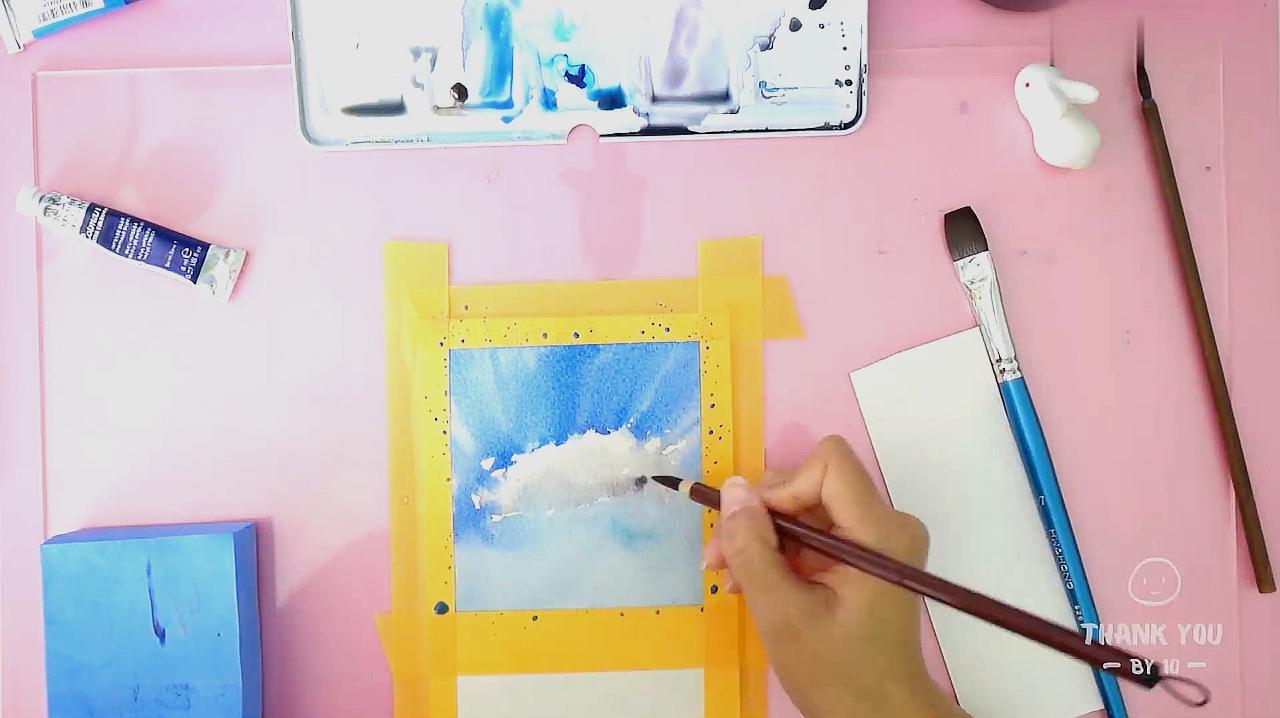 怎樣自學水彩畫圖片