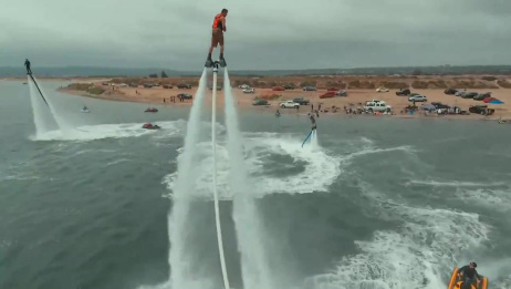 航拍美国加利福尼亚湾,水上特技表演