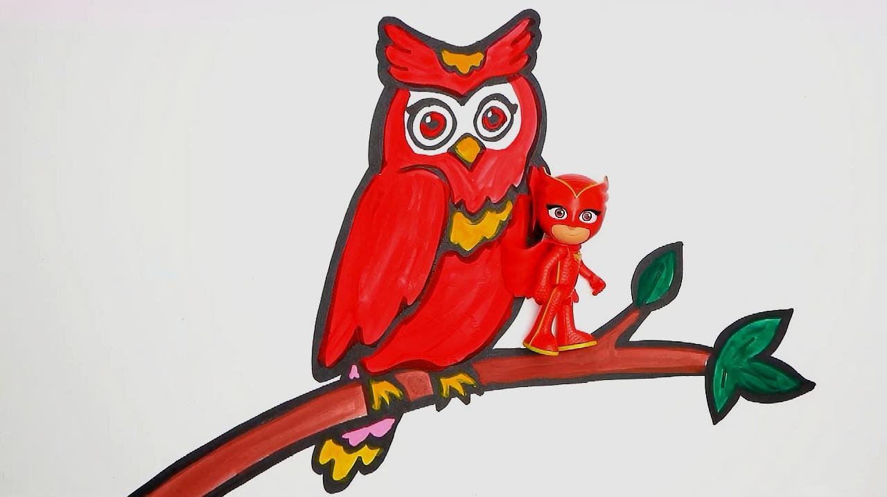 猫头鹰怎么画好看?