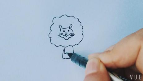儿童简笔画小狮子