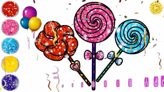 儿童简笔画,棒棒糖画画