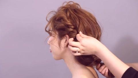 2019年流行新娘盘发发型,韩式新娘盘发步骤教程图片