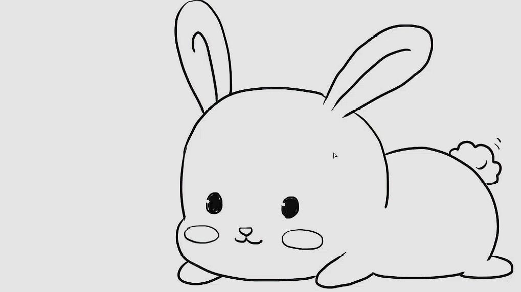 可爱兔子的简笔画,超萌超可爱!宝宝轻松就学会