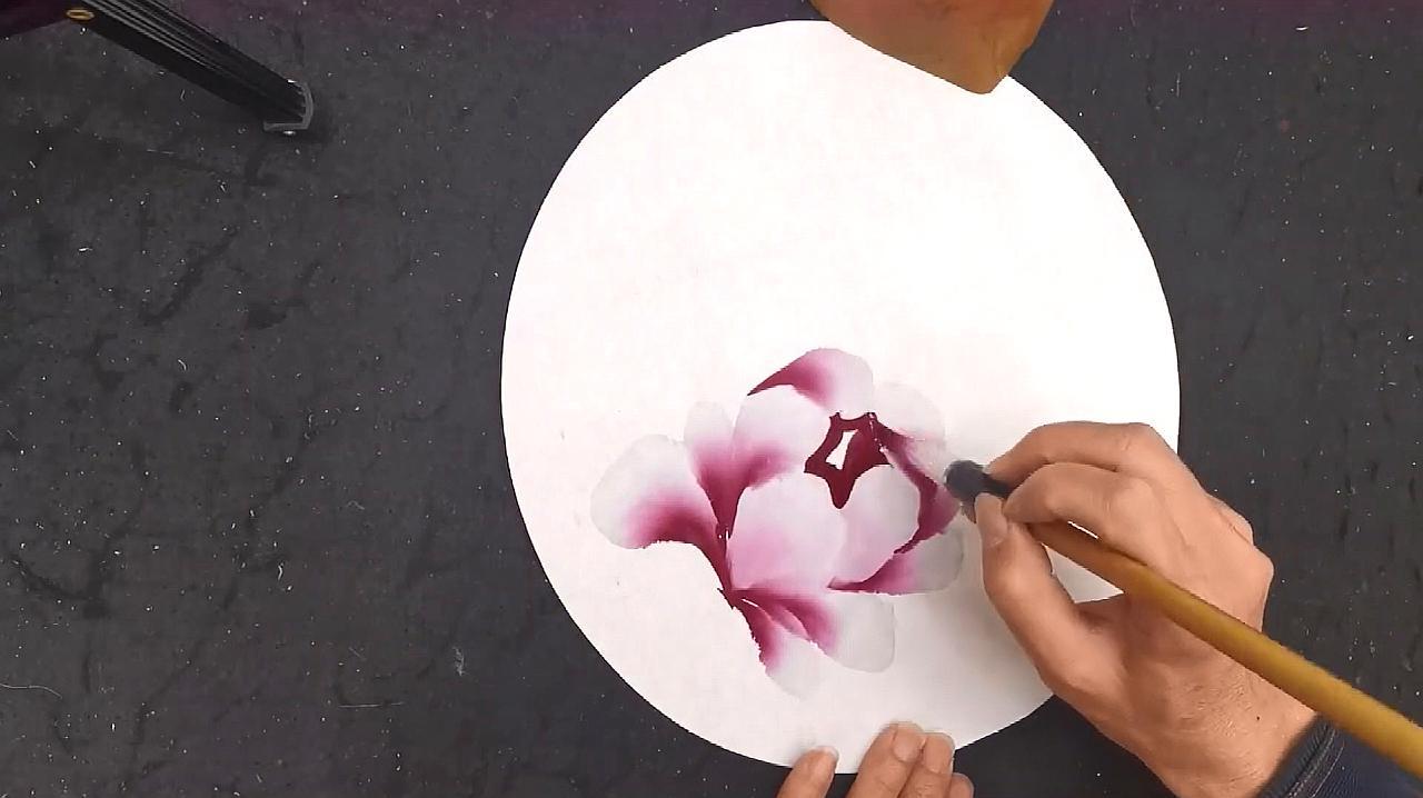 国画:牡丹花头的画法展示,希望对你有帮助!