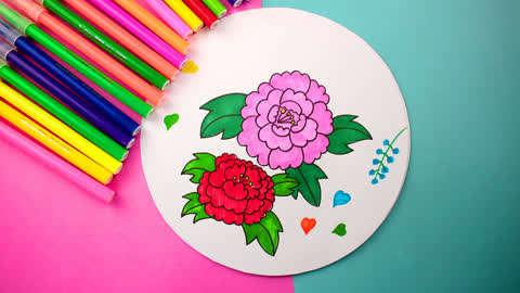 几分钟搞定简笔画花卉,马上学起来