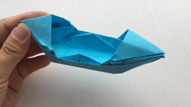手工折纸大全,教你快速折一个乌篷船,纸船的折法