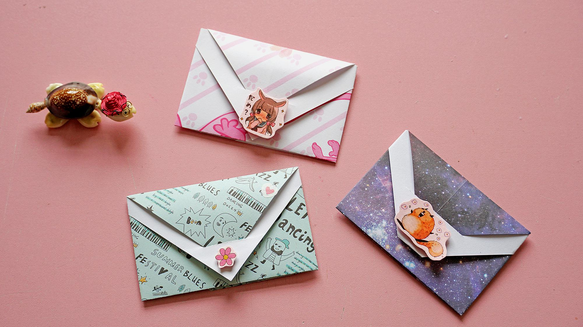 儿童折纸信封怎么折?