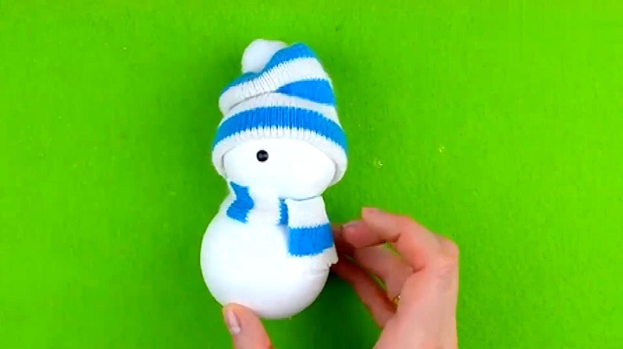 可爱的雪人手工制作,好看极了