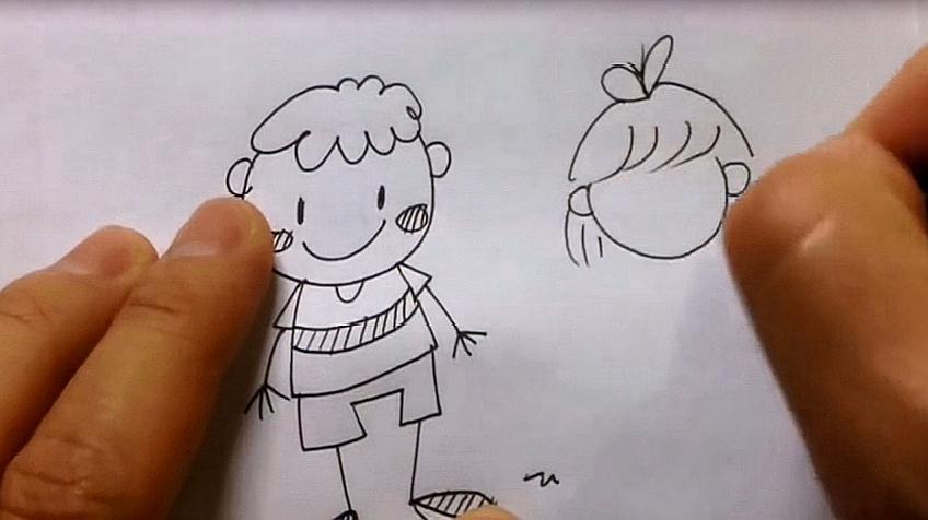 小朋友简笔画怎么画?